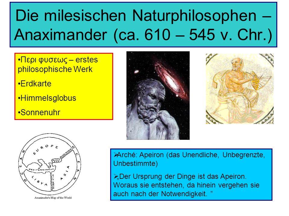 Die milesischen Naturphilosophen – Anaximander (ca. 610 – 545 v. Chr.)