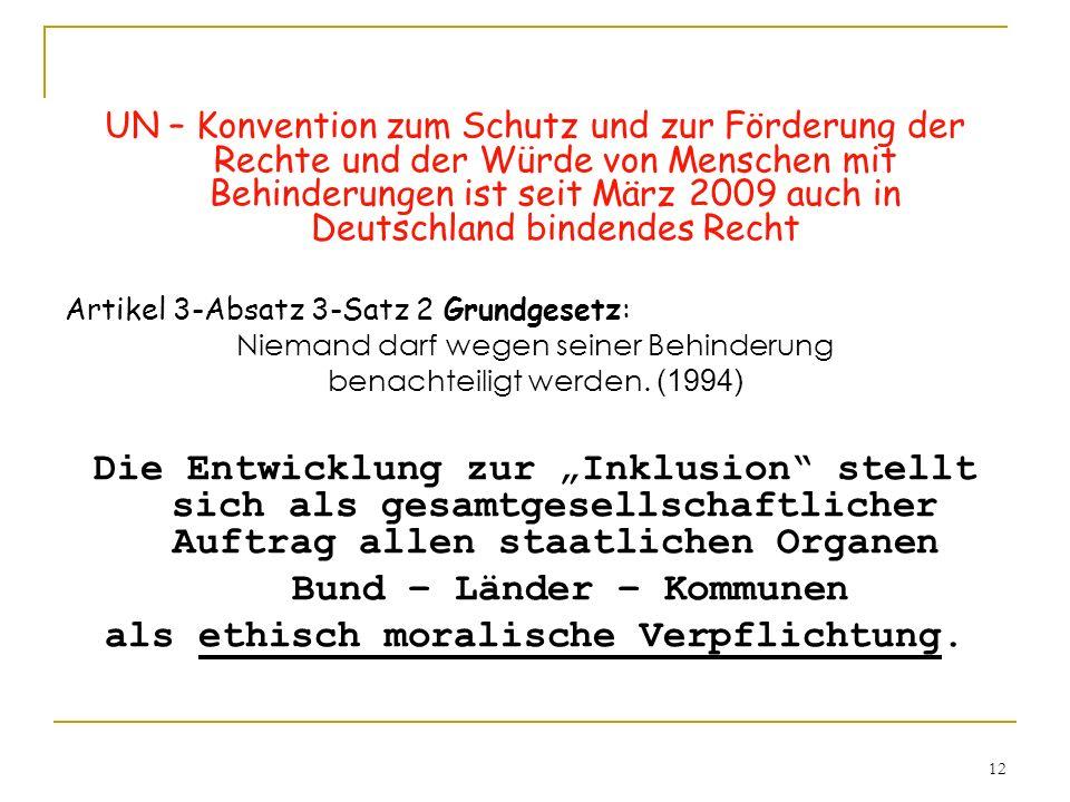 Bund – Länder – Kommunen als ethisch moralische Verpflichtung.