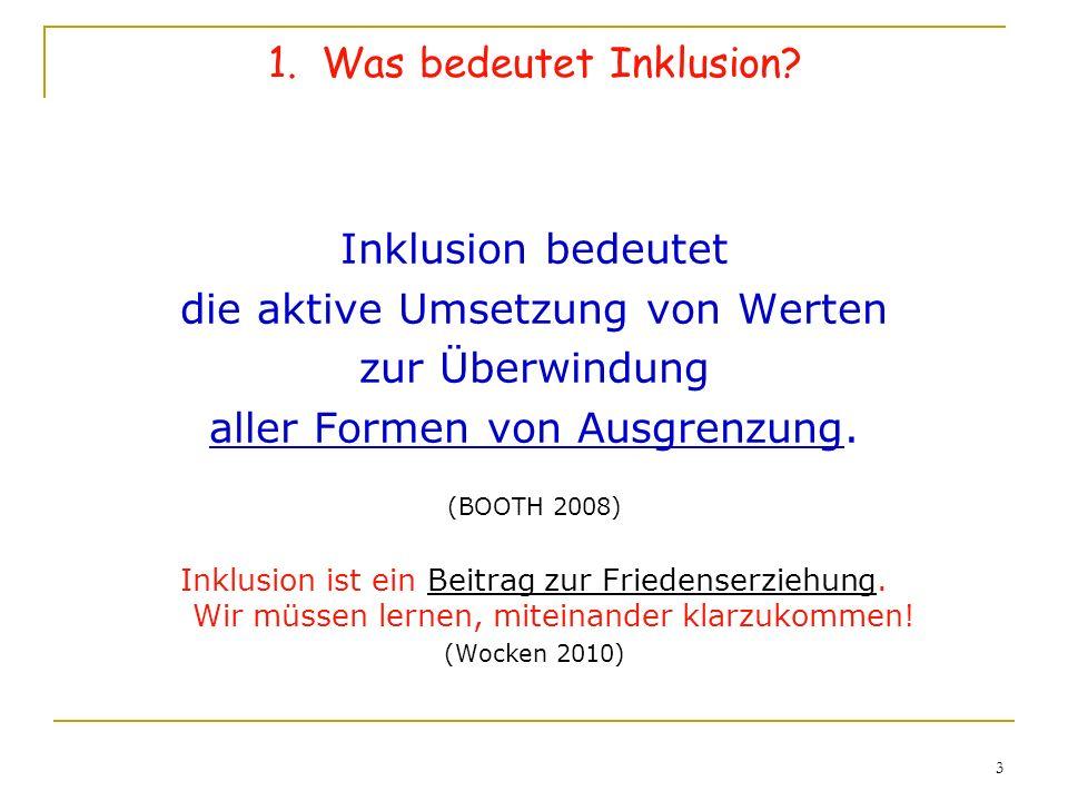 1. Was bedeutet Inklusion