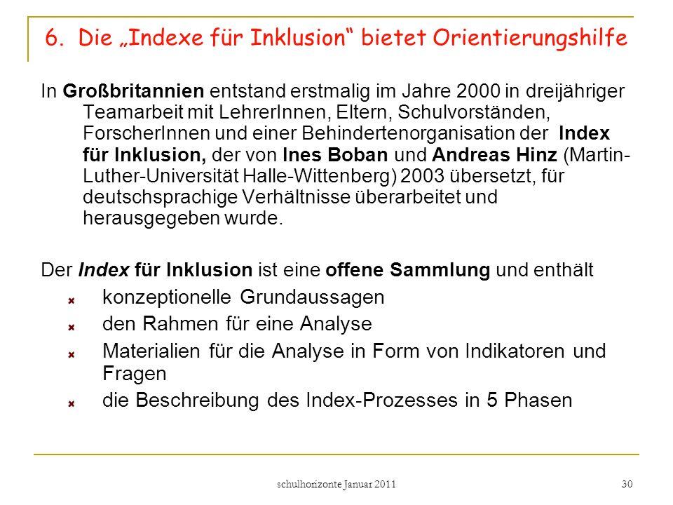 """6. Die """"Indexe für Inklusion bietet Orientierungshilfe"""