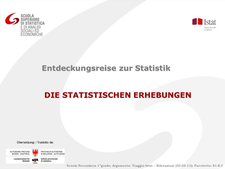 Entdeckungsreise zur Statistik