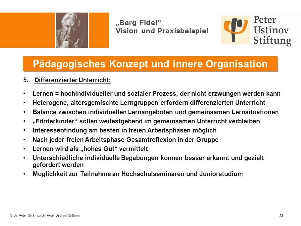 Pädagogisches Konzept und innere Organisation