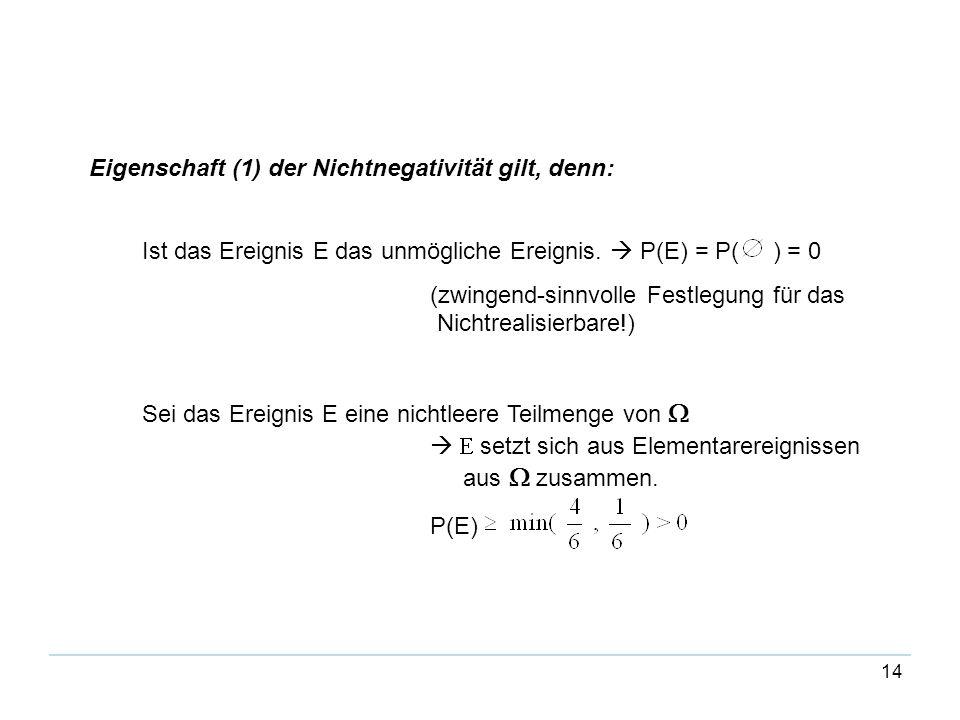 Eigenschaft (1) der Nichtnegativität gilt, denn: