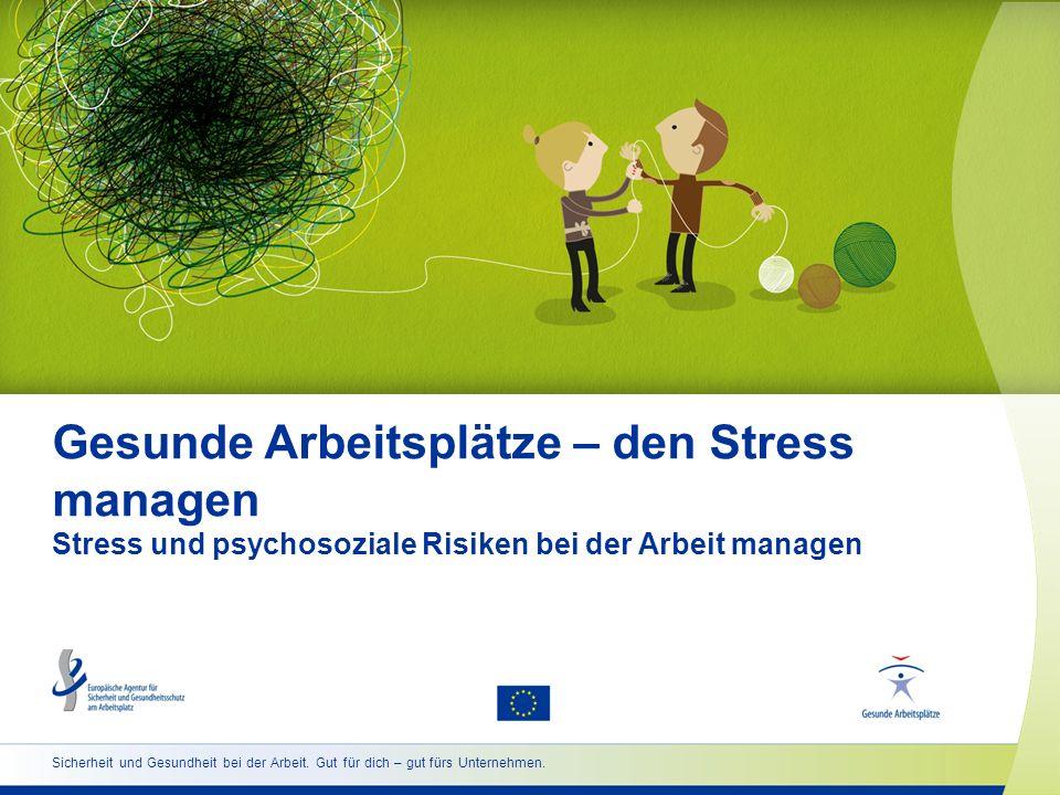 Gesunde Arbeitsplätze – den Stress managen Stress und psychosoziale Risiken bei der Arbeit managen