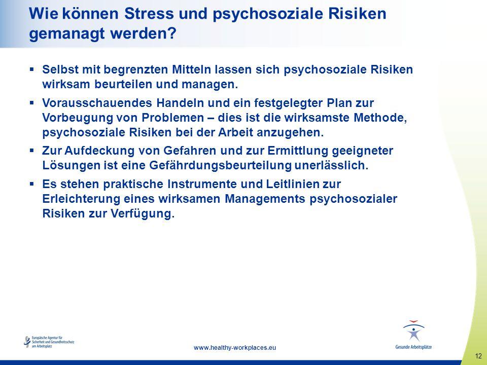 Wie können Stress und psychosoziale Risiken gemanagt werden