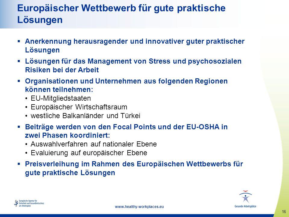 Europäischer Wettbewerb für gute praktische Lösungen