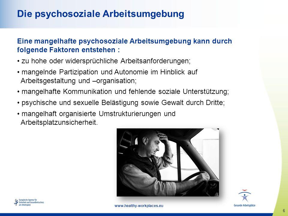 Die psychosoziale Arbeitsumgebung