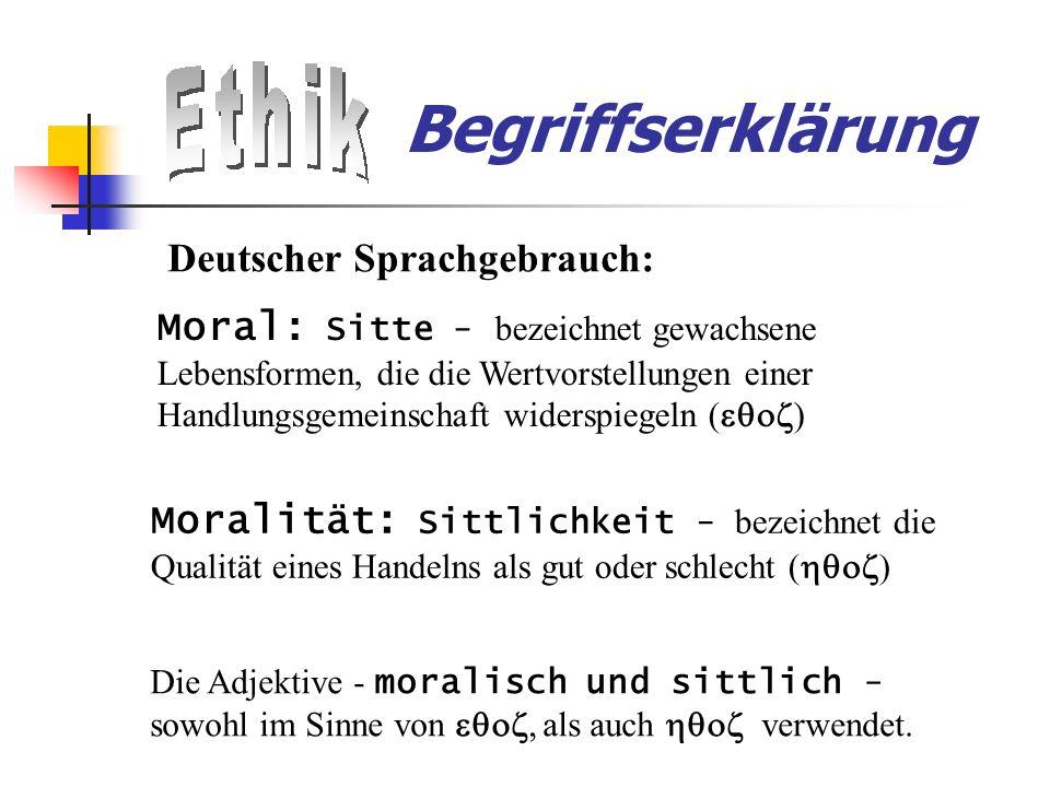 Begriffserklärung Deutscher Sprachgebrauch:
