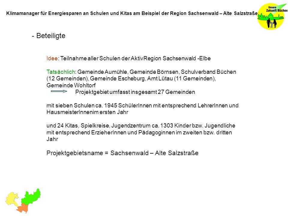 - Beteiligte Projektgebietsname = Sachsenwald – Alte Salzstraße