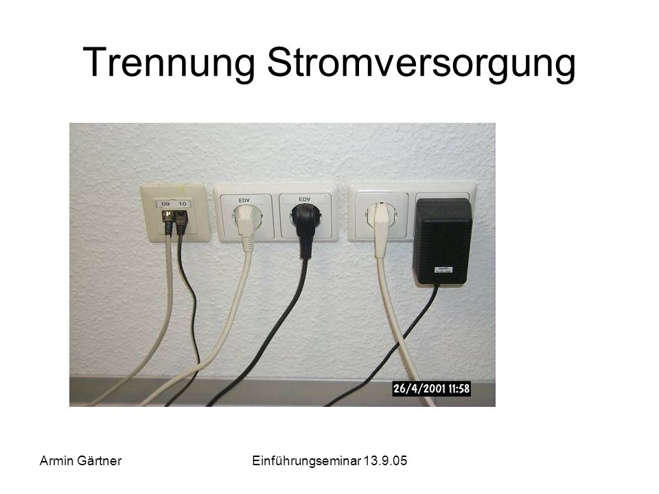 Trennung Stromversorgung