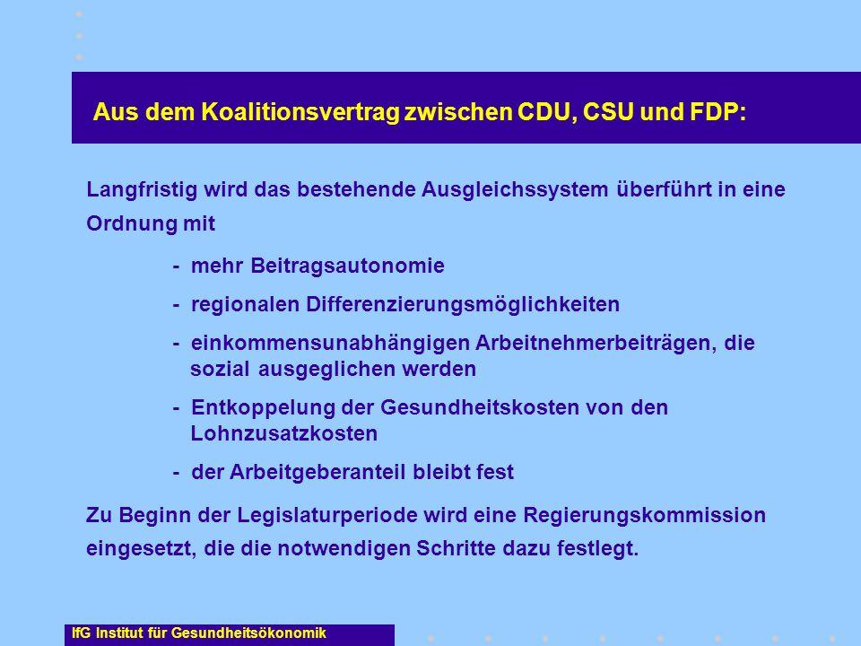 Aus dem Koalitionsvertrag zwischen CDU, CSU und FDP: