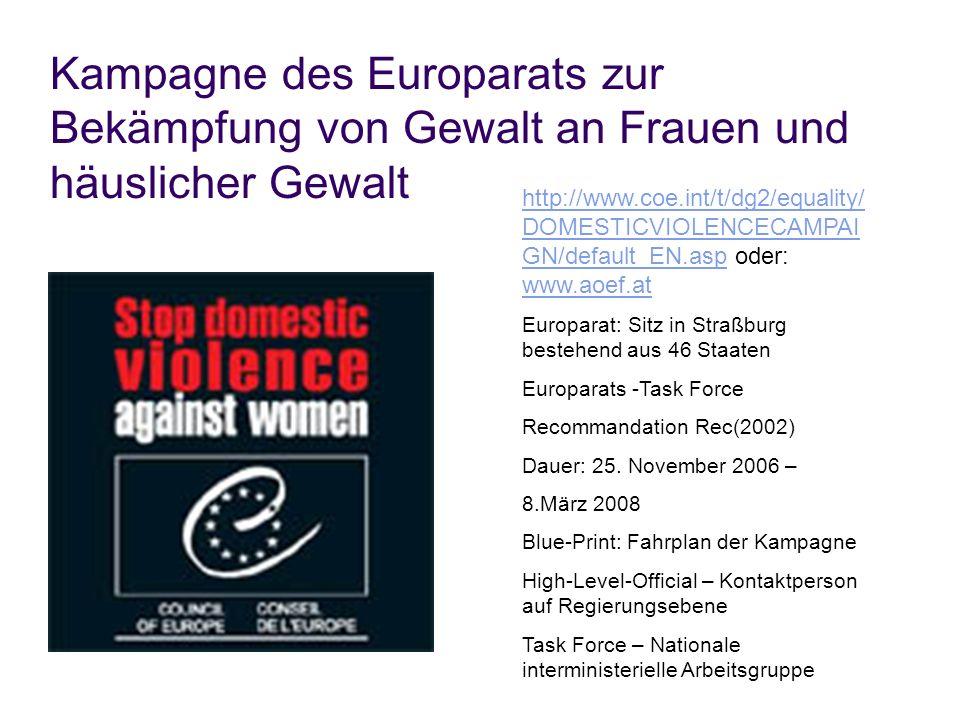 Kampagne des Europarats zur Bekämpfung von Gewalt an Frauen und häuslicher Gewalt