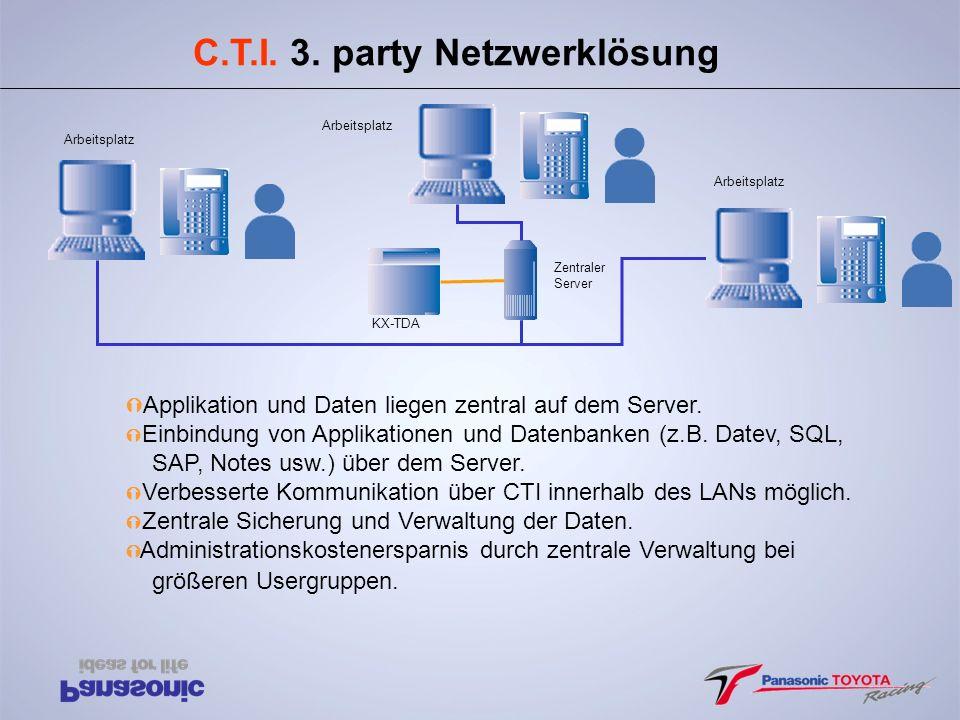 C.T.I. 3. party Netzwerklösung