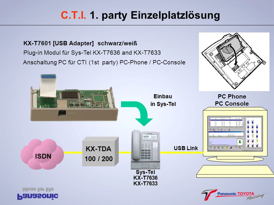 C.T.I. 1. party Einzelplatzlösung