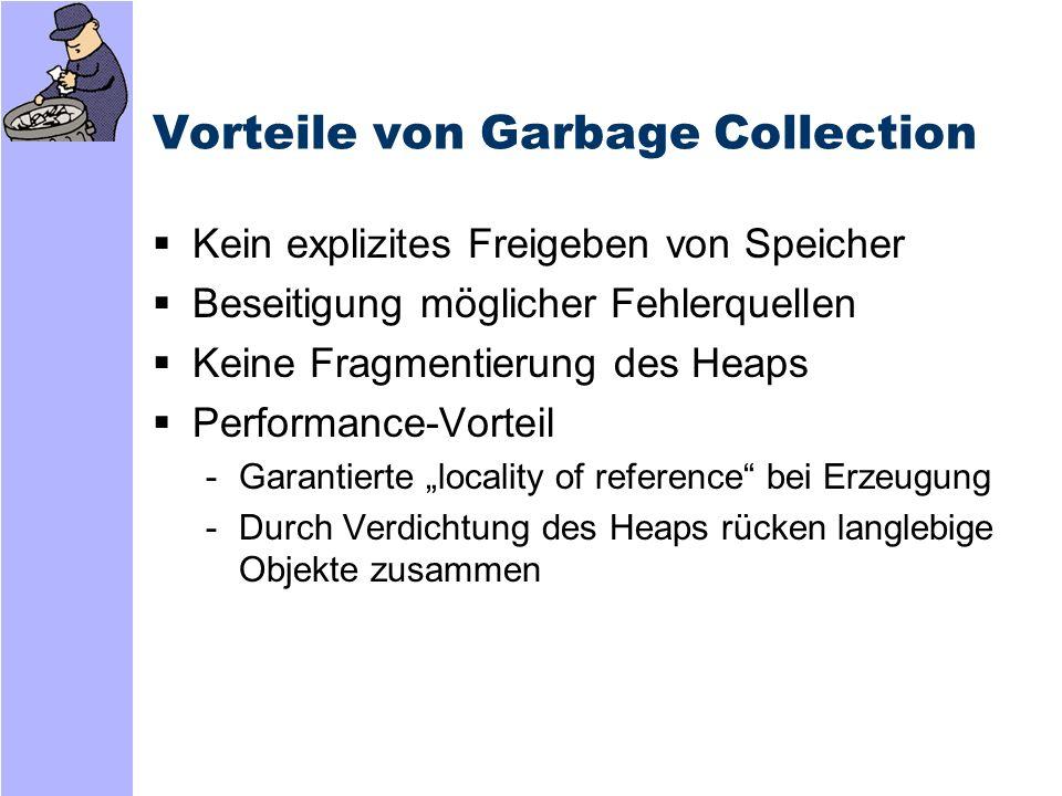 Vorteile von Garbage Collection