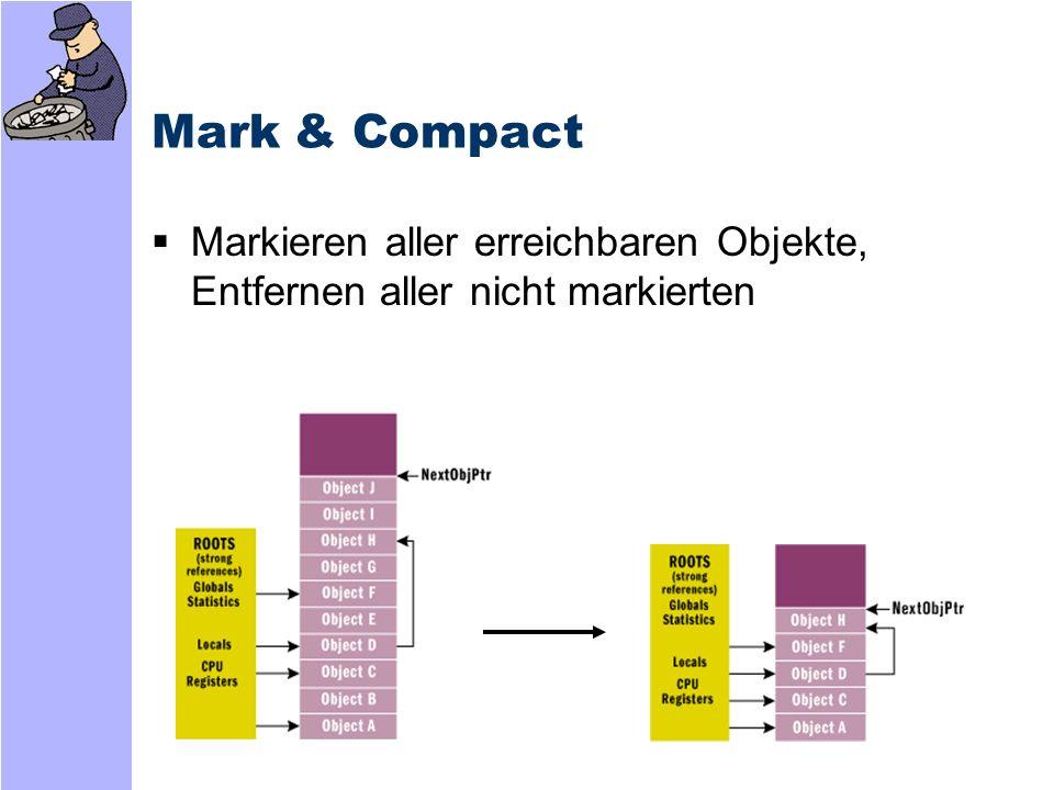 Mark & Compact Markieren aller erreichbaren Objekte, Entfernen aller nicht markierten