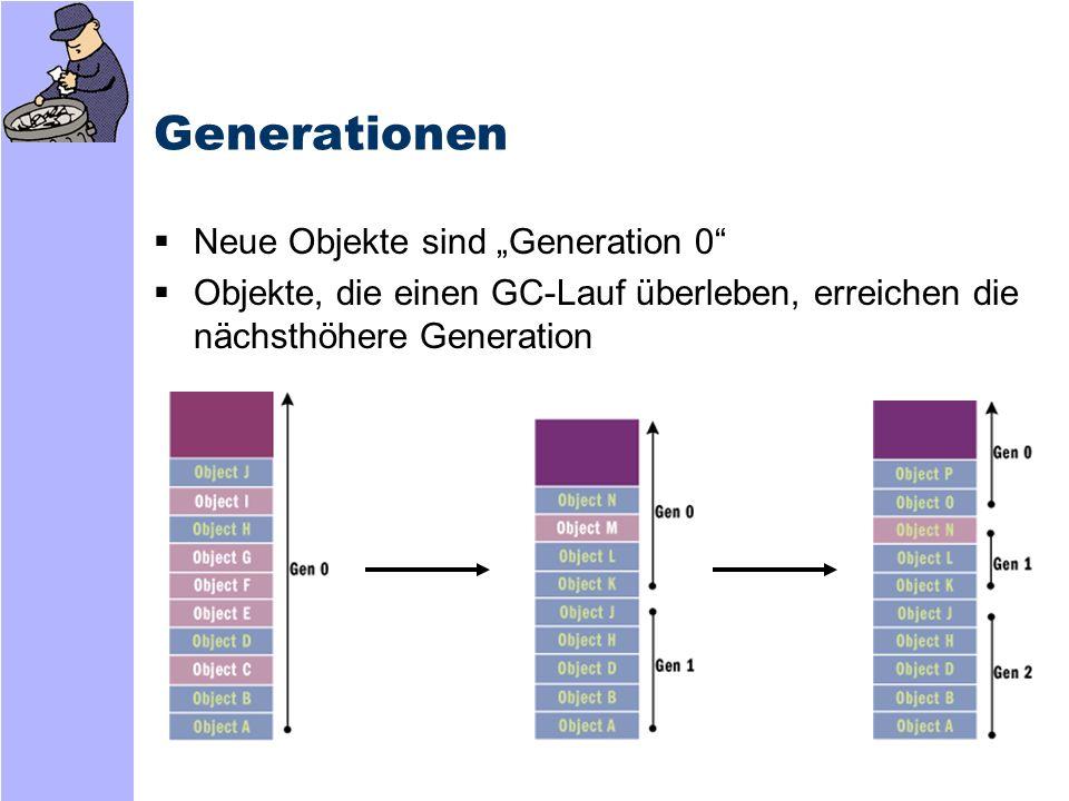 """Generationen Neue Objekte sind """"Generation 0"""