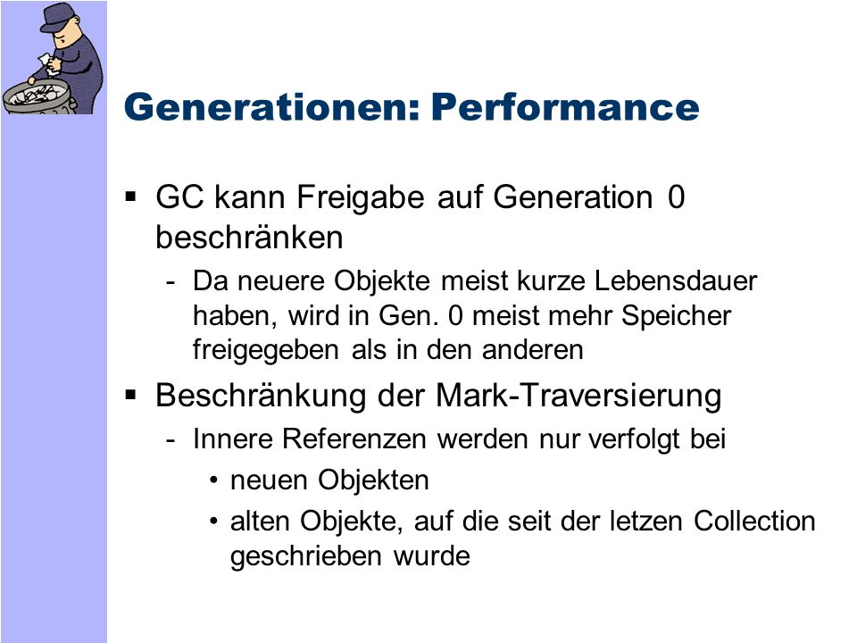 Generationen: Performance