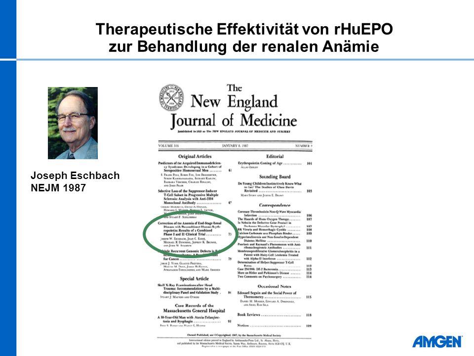 Therapeutische Effektivität von rHuEPO zur Behandlung der renalen Anämie
