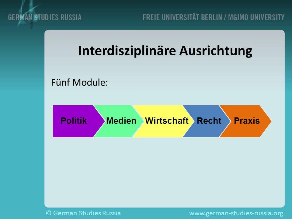 Interdisziplinäre Ausrichtung