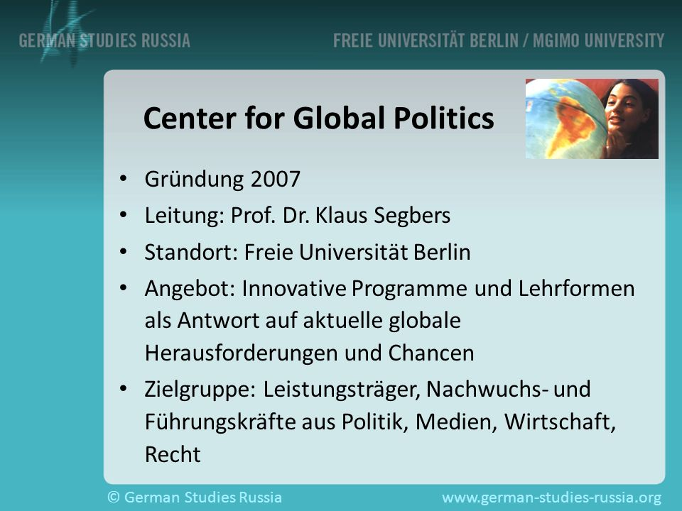 Center for Global Politics