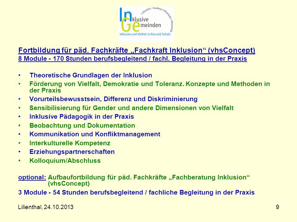 "Fortbildung für päd. Fachkräfte ""Fachkraft Inklusion (vhsConcept)"