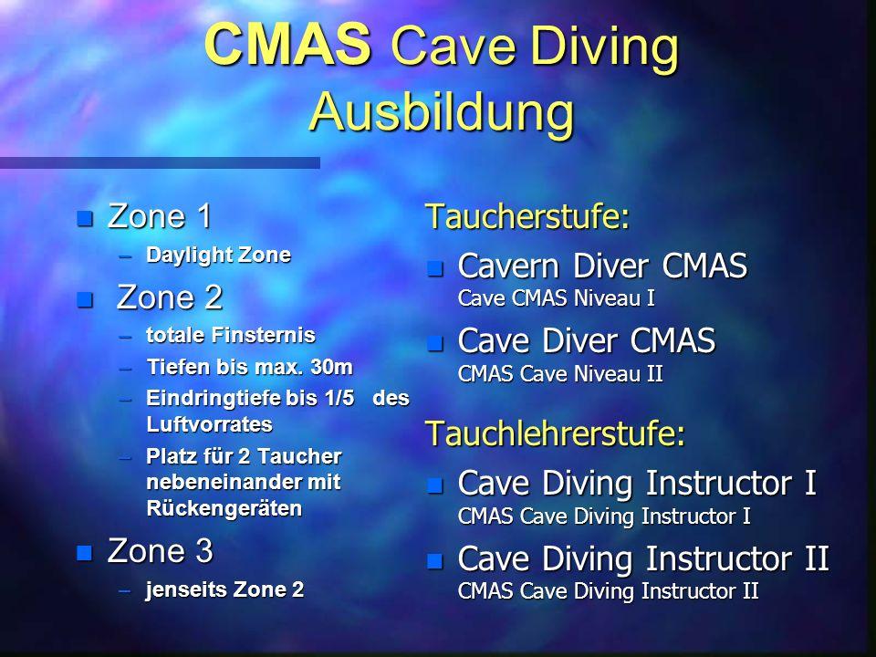 CMAS Cave Diving Ausbildung