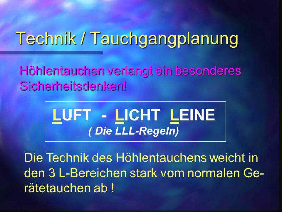Technik / Tauchgangplanung