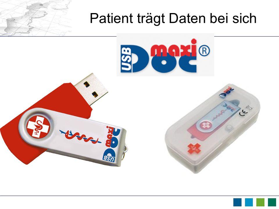 Patient trägt Daten bei sich