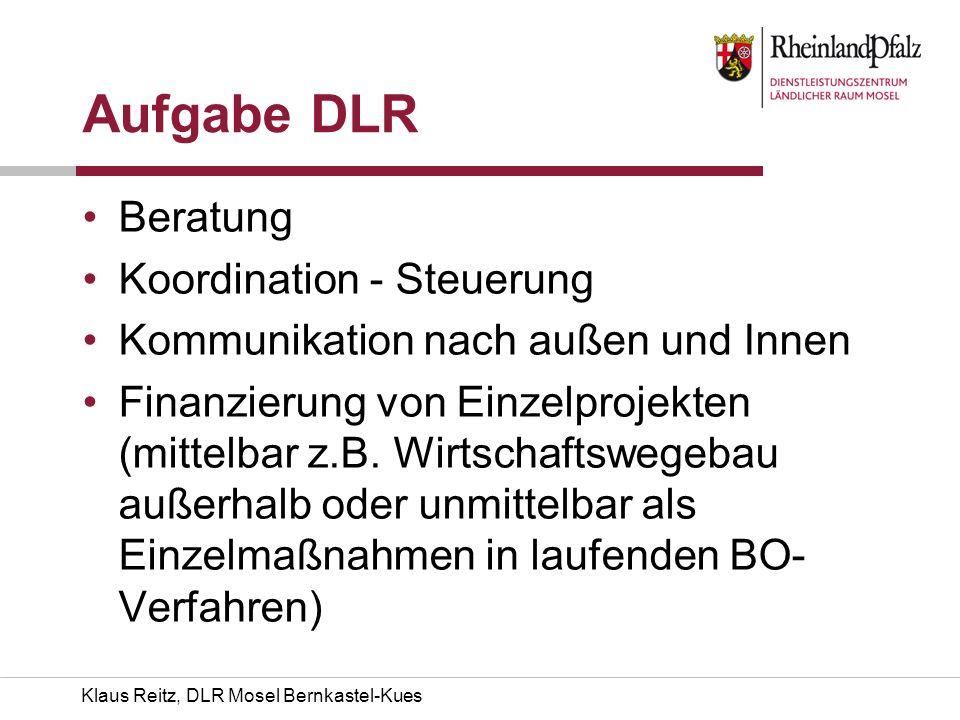 Aufgabe DLR Beratung Koordination - Steuerung