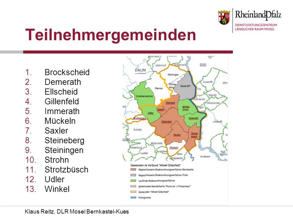 Teilnehmergemeinden Brockscheid Demerath Ellscheid Gillenfeld Immerath