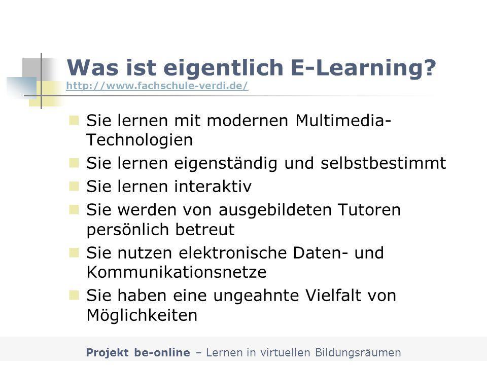 Was ist eigentlich E-Learning http://www.fachschule-verdi.de/