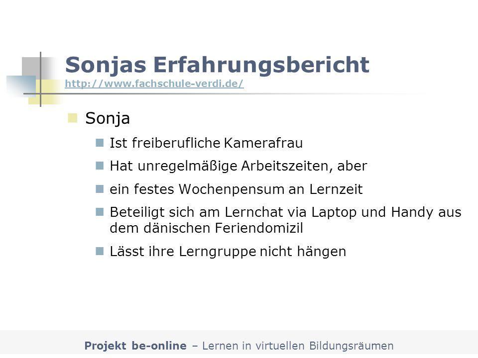 Sonjas Erfahrungsbericht http://www.fachschule-verdi.de/
