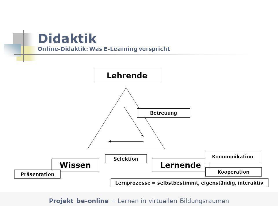 Didaktik Online-Didaktik: Was E-Learning verspricht