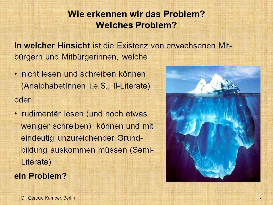 Wie erkennen wir das Problem Welches Problem