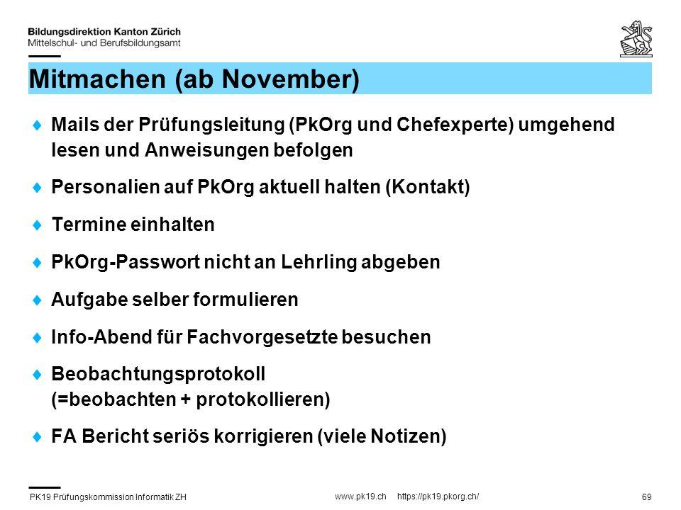 Mitmachen (ab November)