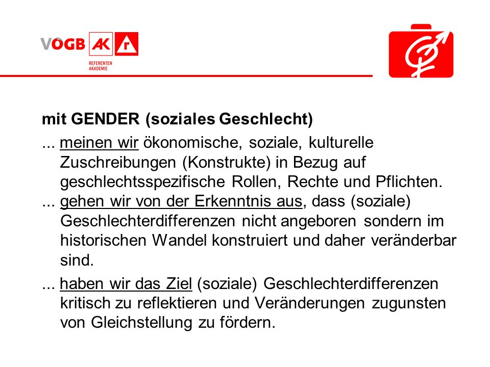 mit GENDER (soziales Geschlecht)