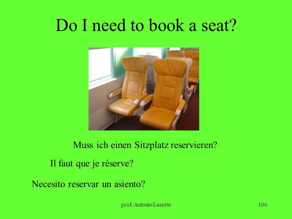 Do I need to book a seat Muss ich einen Sitzplatz reservieren