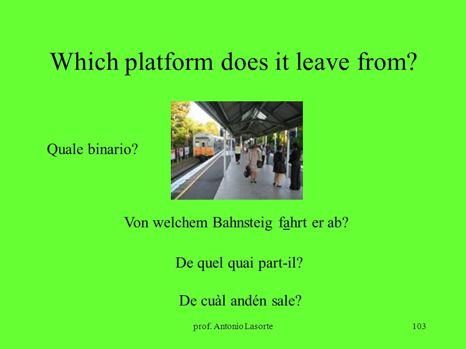 Which platform does it leave from
