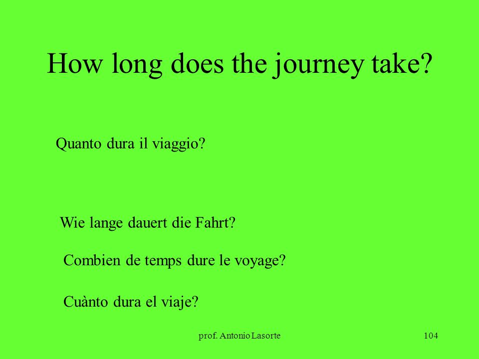 How long does the journey take