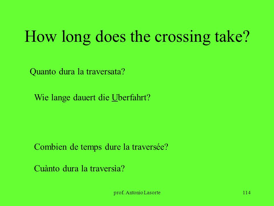 How long does the crossing take