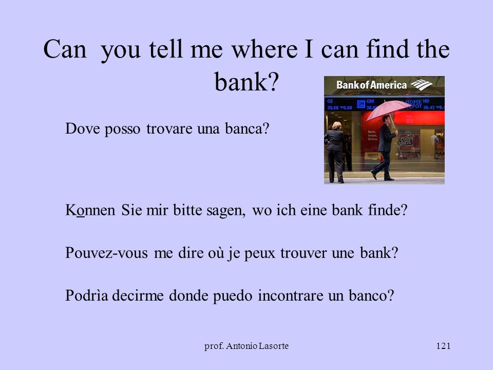 Can you tell me where I can find the bank