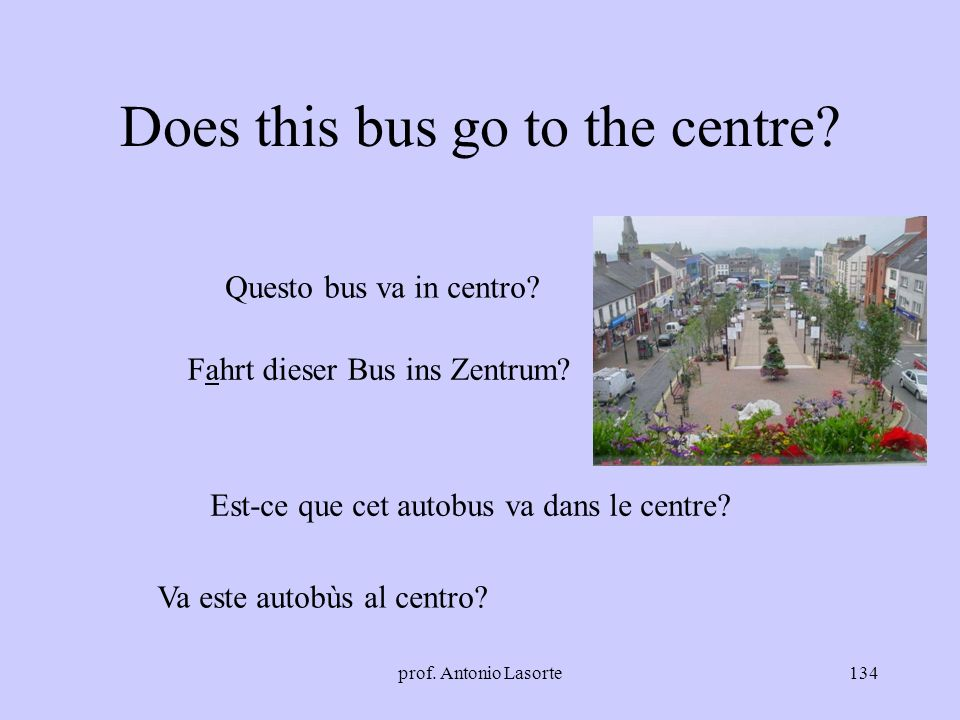 Does this bus go to the centre