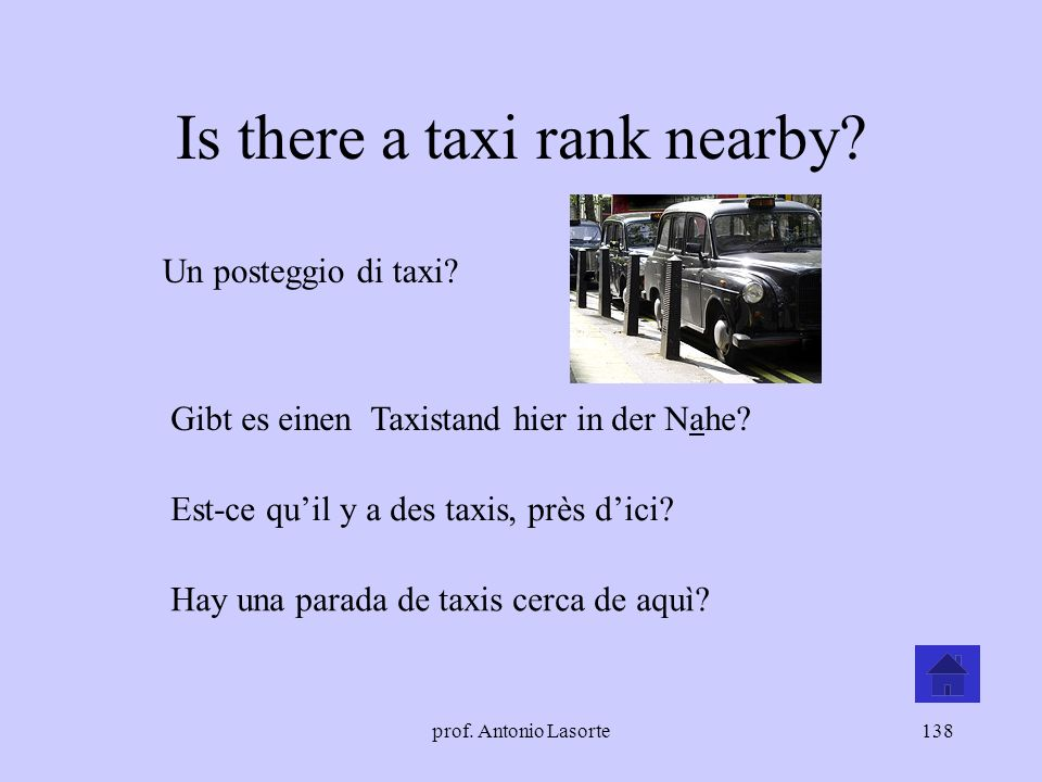 Is there a taxi rank nearby