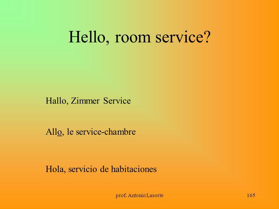 Hello, room service Hallo, Zimmer Service Allo, le service-chambre