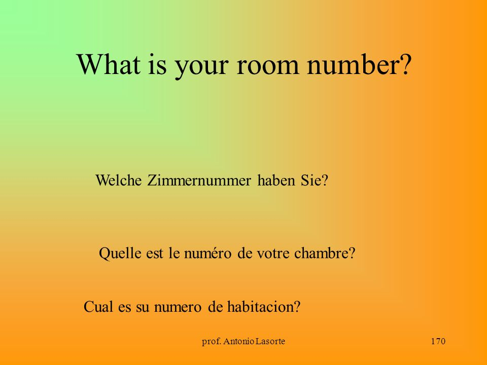 What is your room number