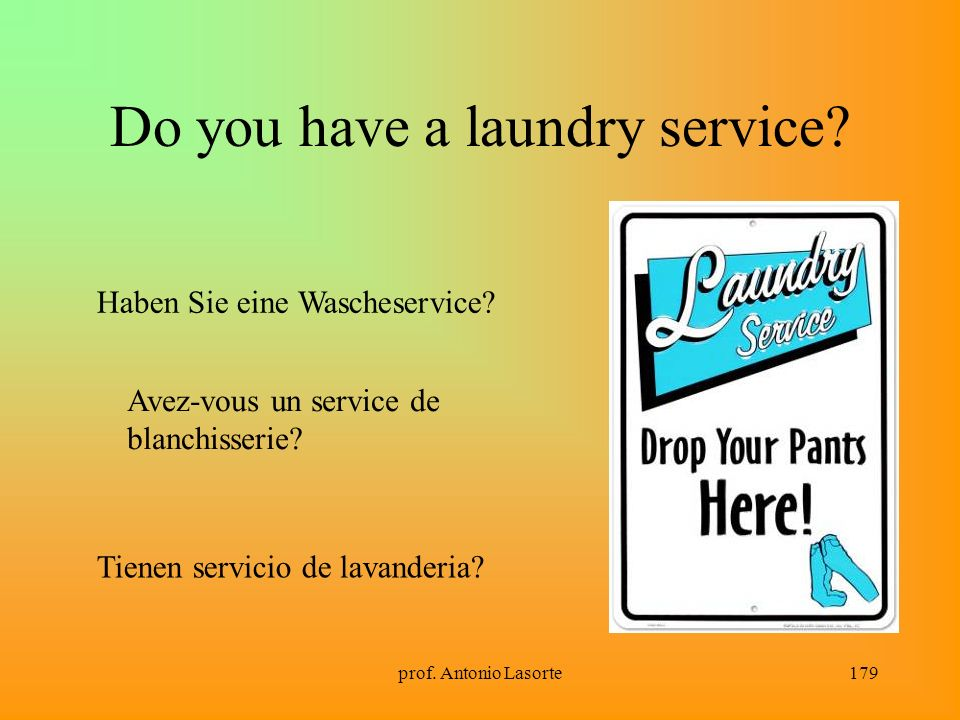 Do you have a laundry service