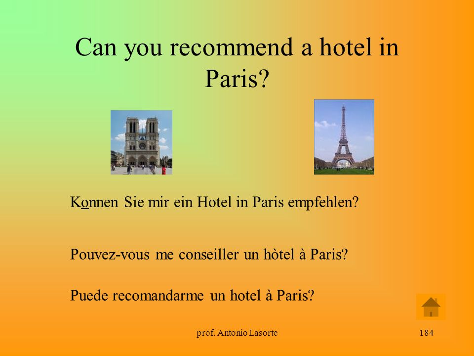 Can you recommend a hotel in Paris