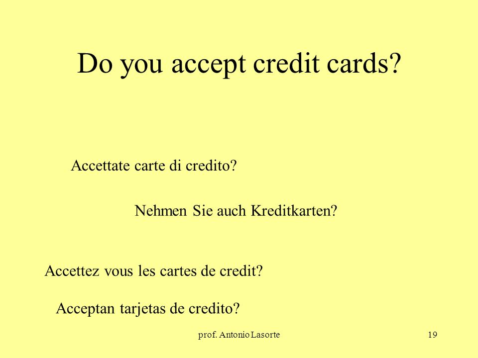 Do you accept credit cards