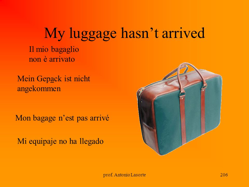 My luggage hasn't arrived